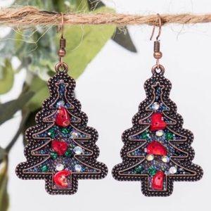 Christmas Tree earrings festive jewels  NWT